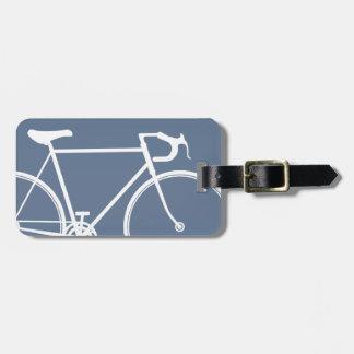 Plantilla azul de la etiqueta del bolso del viaje  etiqueta de equipaje