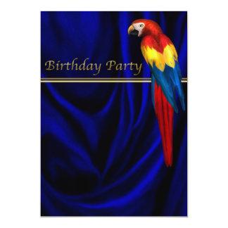 Plantilla azul de la fiesta de cumpleaños del invitación 12,7 x 17,8 cm
