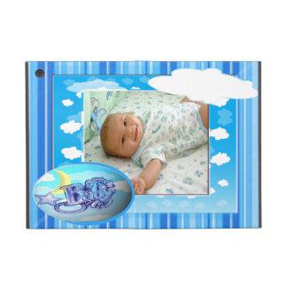 Plantilla azul de la foto de las nubes y de las ra iPad mini fundas