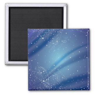 Plantilla azul de la noche estrellada iman para frigorífico