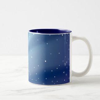 Plantilla azul de la noche estrellada taza de café