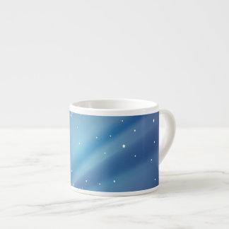 Plantilla azul de la noche estrellada tazas espresso