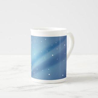 Plantilla azul de la noche estrellada tazas de china