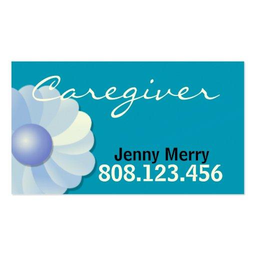 Plantilla azul de la tarjeta de visita del cuidado