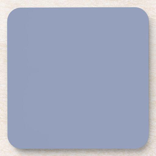 Plantilla azul de la tendencia del color del Cornf Posavasos De Bebida