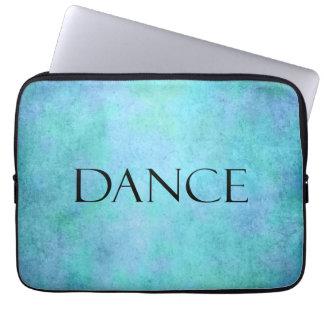 Plantilla azul del baile de la acuarela del trullo fundas ordendadores