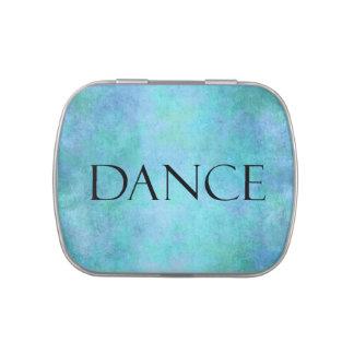 Plantilla azul del baile de la acuarela del trullo jarrones de caramelos