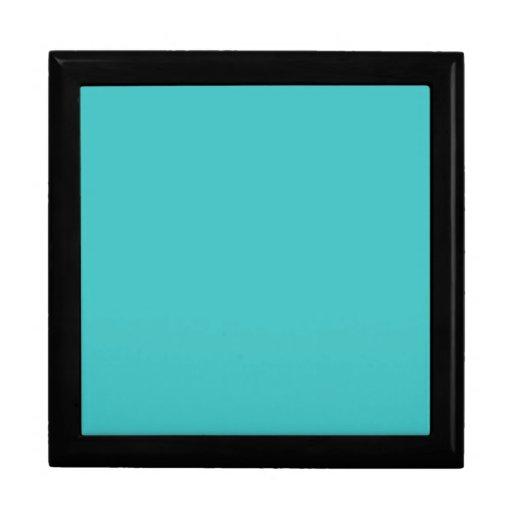 Plantilla azul del espacio en blanco de la tendenc caja de regalo