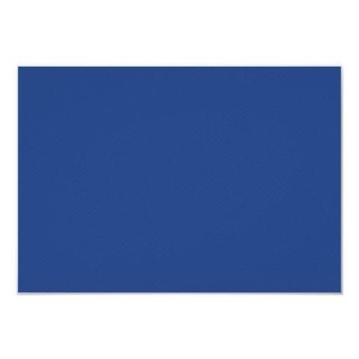 """Plantilla azul eléctrica del espacio en blanco de invitación 3.5"""" x 5"""""""