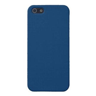 Plantilla azul marino del fondo del color sólido 0 iPhone 5 coberturas
