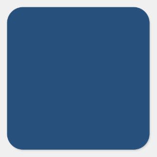 Plantilla azul marino del fondo del color sólido pegatina cuadrada