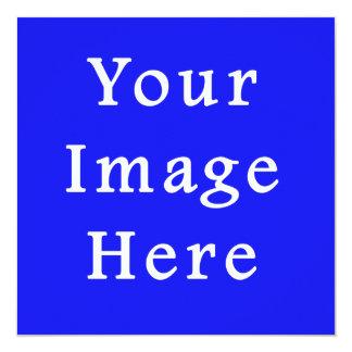 """Plantilla azul saturada de Jánuca Chanukah Hanukah Invitación 5.25"""" X 5.25"""""""