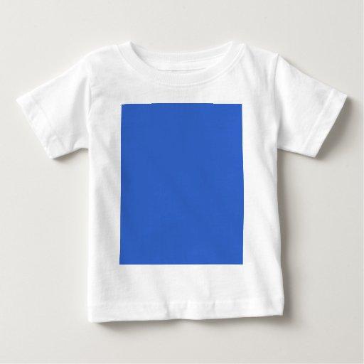 plantilla azul sólida del color de fondo 3366CC Playera