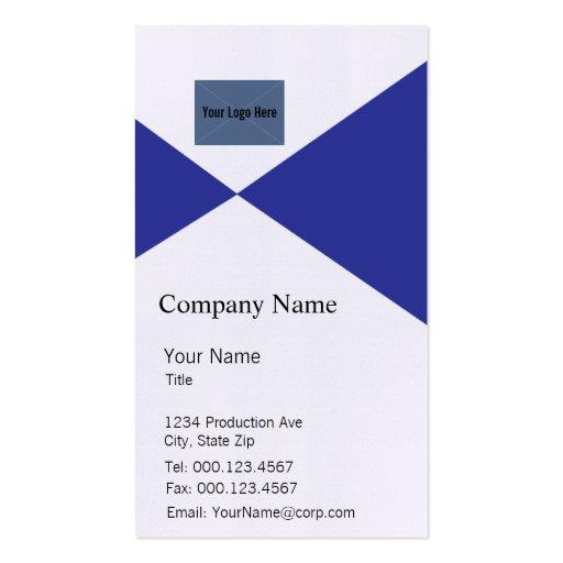 Plantilla azul y blanca de la tarjeta de visita