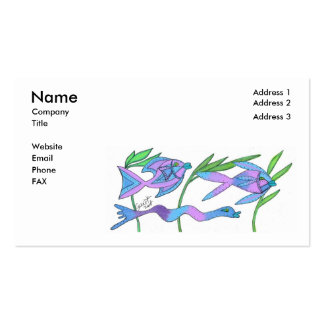 Plantilla azul y violeta de la tarjeta de visita d