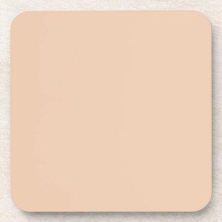Plantilla beige de lino pálida del espacio en blan posavasos