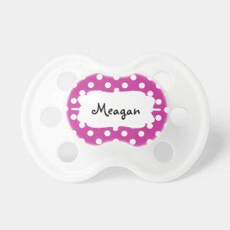Plantilla blanca adaptable del regalo del lunar chupetes para bebés
