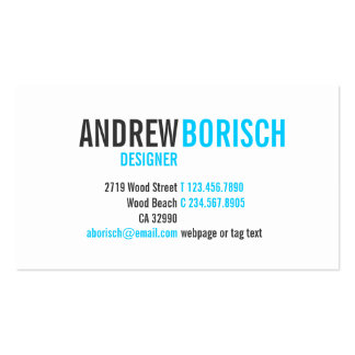 Plantilla blanca azul moderna de la tarjeta de vis plantillas de tarjeta de negocio