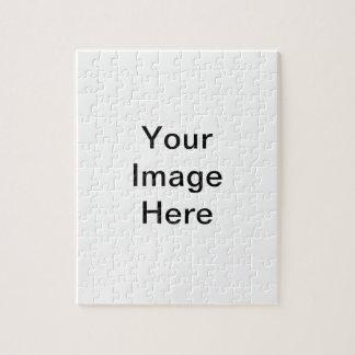 Plantilla blanca en blanco rompecabezas con fotos