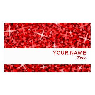 Plantilla blanca roja de la tarjeta de visita de l