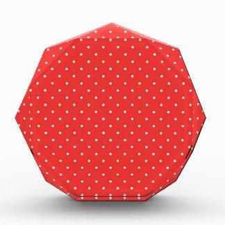 Plantilla blanca roja del personalizado del fondo