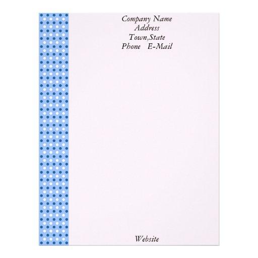Plantilla blanca y azul del papel con membrete de  membrete