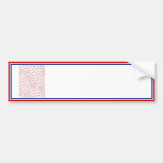 Plantilla blanca y azul roja del marco de la foto pegatina para auto