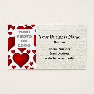 Plantilla blanca y roja de la foto del modelo del tarjetas de visita