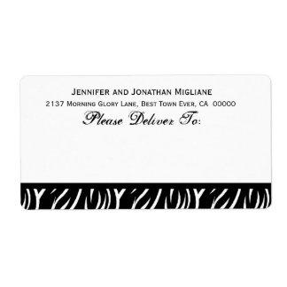 Plantilla blanco y negro de la impresión de la etiqueta de envío