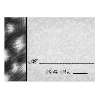 Plantilla blanco y negro del boda del guepardo tarjetas de visita grandes