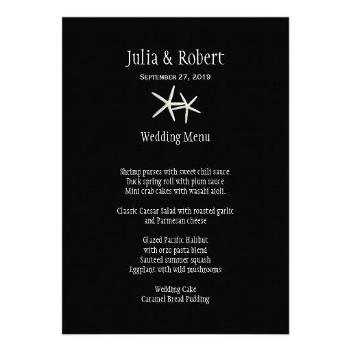 Plantilla blanco y negro del menú del boda de las