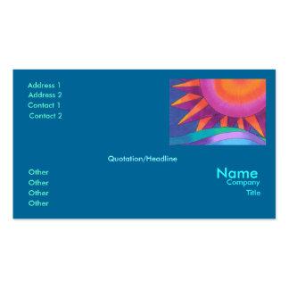 Plantilla brillante de la tarjeta de visita de Sun