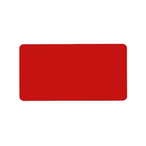 Plantilla brillante de la tendencia del color rojo etiqueta de dirección