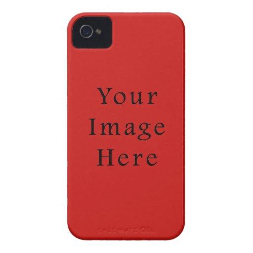 Plantilla brillante del espacio en blanco de la te Case-Mate iPhone 4 protector