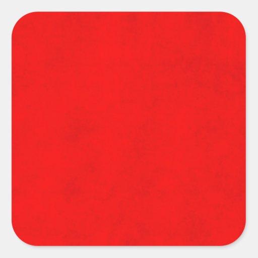 Plantilla brillante roja del color del pergamino calcomania cuadradas personalizada