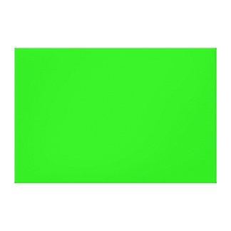 Plantilla brillante verde del espacio en blanco de impresiones en lona