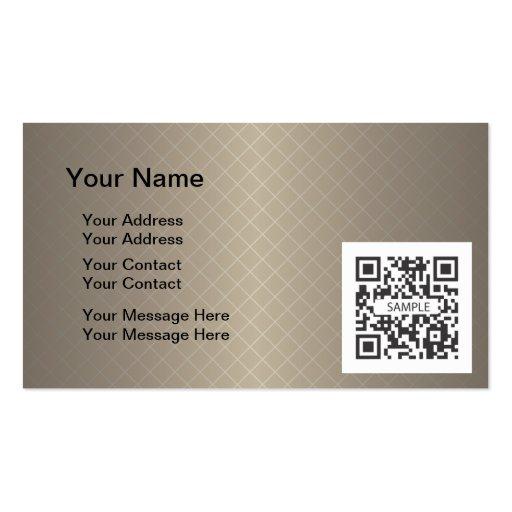 Plantilla Brown genérico de la tarjeta de visita