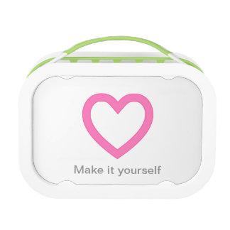 Plantilla, caja del almuerzo personalizada