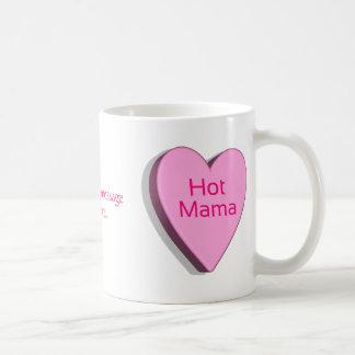 Plantilla caliente de mamá Candy Heart Customizabl Taza Básica Blanca