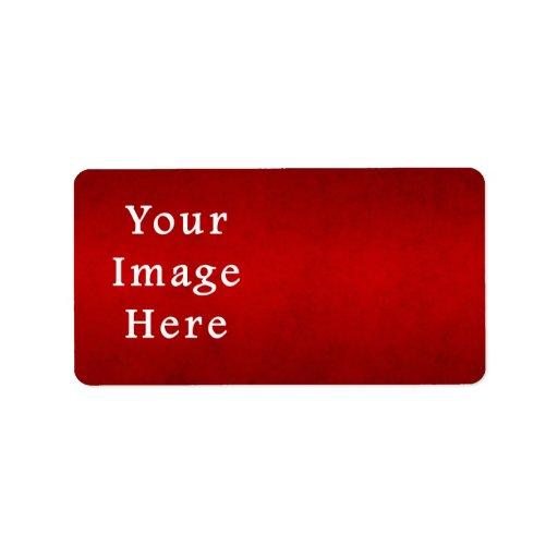 Plantilla carmesí roja del color del pergamino del etiquetas de dirección