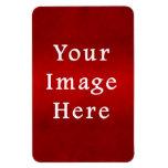 Plantilla carmesí roja del color del pergamino del iman rectangular