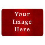Plantilla carmesí roja del color del pergamino del imanes rectangulares