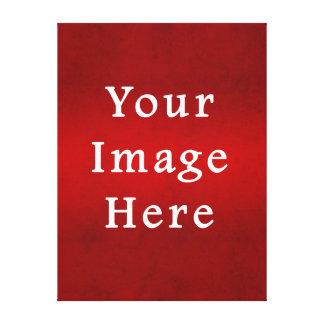 Plantilla carmesí roja del color del pergamino del lona estirada galerías