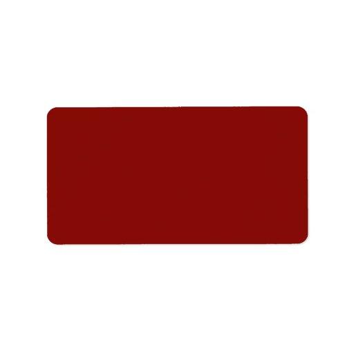 Plantilla carmesí roja del espacio en blanco de la etiqueta de dirección