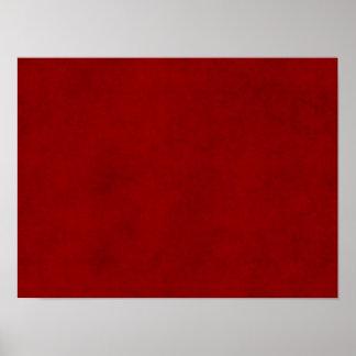 Plantilla carmesí roja del papel de pergamino del  póster