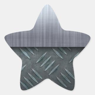 Plantilla cepillada de la placa del diamante del pegatina en forma de estrella