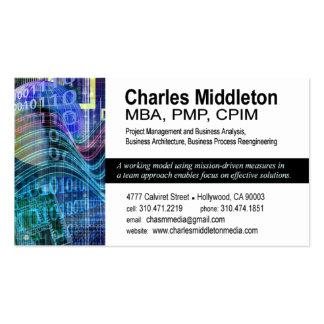 Plantilla cibernética de la tarjeta de visita Tech