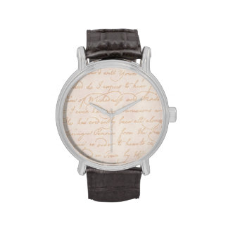 Plantilla colonial del documento de información reloj