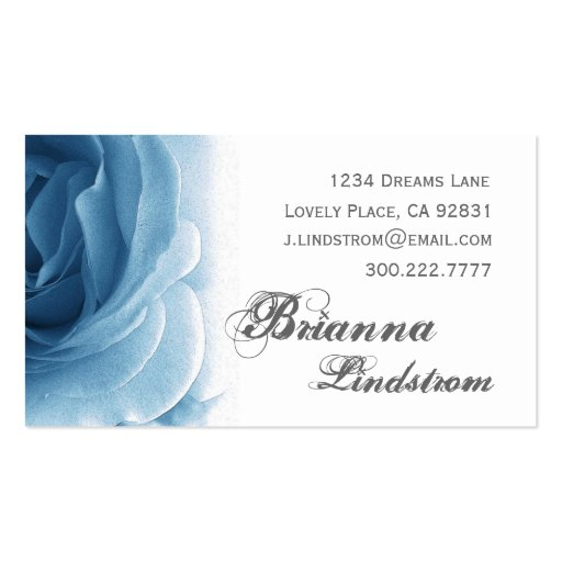 Plantilla color de rosa azul suave personal de la  tarjetas de visita