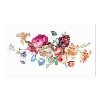 Plantilla color de rosa floral del modelo del tarjetas de visita